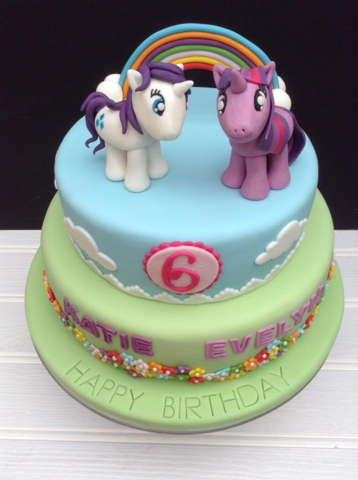 Celebration 2 tiered My Little Pony birthday cake