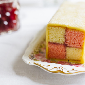 Vintage Tea Party Battenburg cake