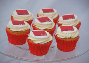 Printed Logo Cupcakes for a Corporate Branding Event