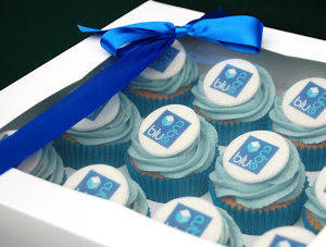 Corporate Logo Cupcakes for Christmas