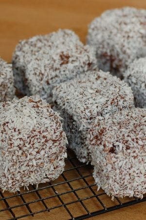 Dan Lepard's Double Chocolate Lamingtons