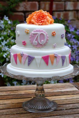 Pretty 70th Birthday Cakes