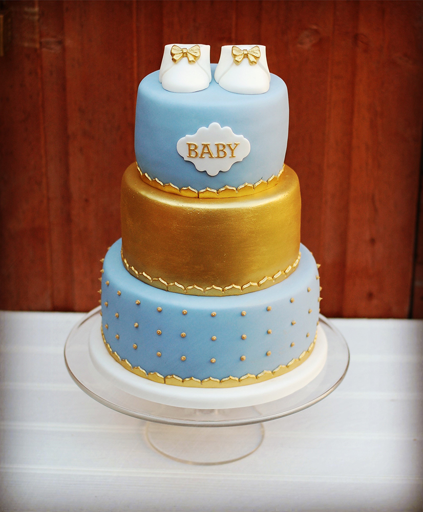 Celebration baby shower three tier cake