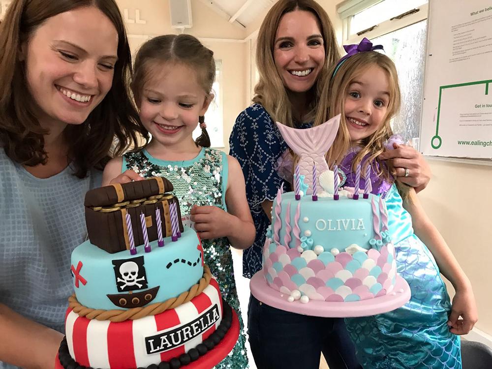 Celebration Pirate and Mermaid birthday cakes